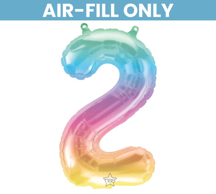 "16"" FLAT NUMBER TWO JELLI OMBRE BALLOON"
