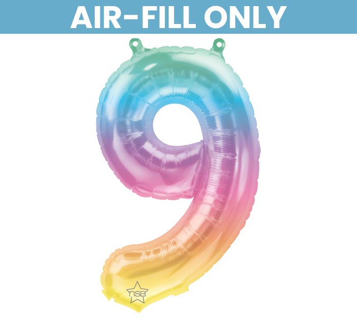 """16"""" FLAT NUMBER 9 JELLI OMBRE BALLOON"""