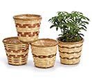 "4.5"" BAMBOO BASKET POT COVER SET"