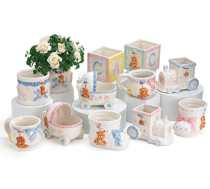 BABY CERAMIC PLANTERS ASSORTED