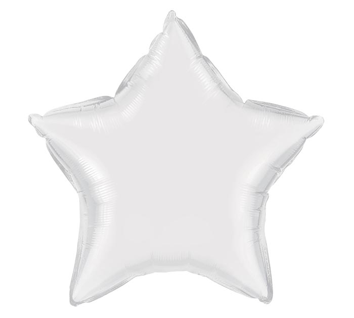 "20""WHITE STAR SHAPE"