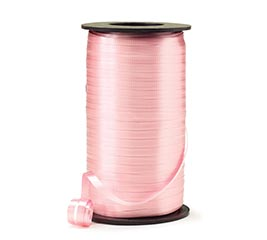 CRIMPED PASTEL PINK CURLING RIBBON