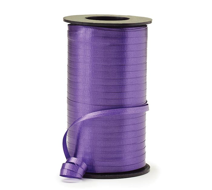 CRIMPED PURPLE CURLING RIBBON