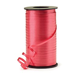 CRIMPED RED CURLING RIBBON