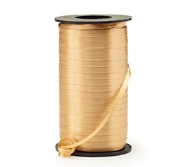 CRIMPED GOLD CURLING RIBBON