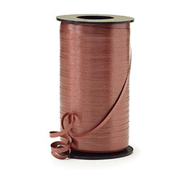 CRIMPED CHOCOLATE CURLING RIBBON