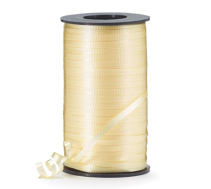 CRIMPED YELLOW CURLING RIBBON