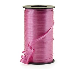CRIMPED DUBONNET ROSE CURLING RIBBON