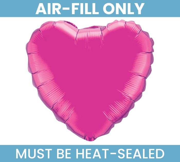 "4""FLAT MAGENTA HEART MINI SHAPE BALLOON"