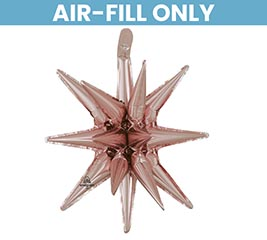 "20"" PKG ROSE GOLD MAGIC STAR BALLOON"