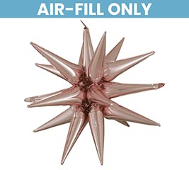 "35"" PKG ROSE GOLD MAGIC STAR BALLOON"