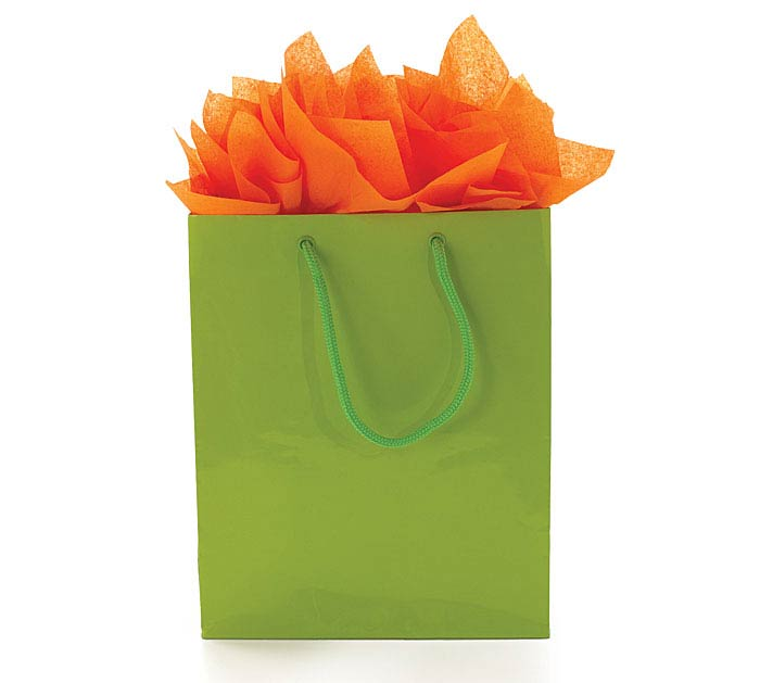 BRIGHT GREEN GIFT BAG