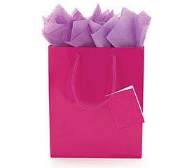 BRIGHT PINK GIFT BAG