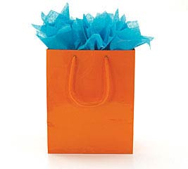 BRIGHT ORANGE GIFT BAG