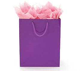 BRIGHT PURPLE GIFT BAG