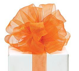 #9 ORANGE SHEER RIBBON