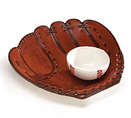 CERAMIC BASEBALL GLOVE/BALL CHIP/DIP