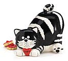 CHESTER CAT CERAMIC COOKIE JAR