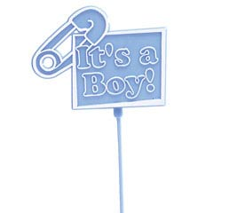 IT'S A BOY BLUE PLASTIC PICK