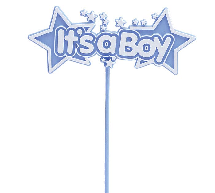 IT'S A BOY BLUE STARS PLASTIC PICK