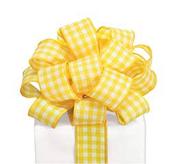 #9 YELLOW GINGHAM WIRED RIBBON
