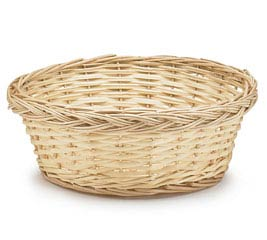 "10"" NATURAL FINISH ROUND WILLOW BASKET"