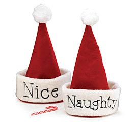 NAUGHTY OR NICE SANTA HAT
