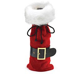 PLUSH SANTA BOTTLE BAG