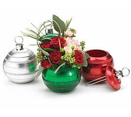 CHRISTMAS ORNAMENT SHAPED PLANTER SET