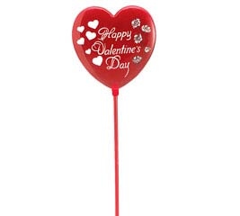 "11"" PLASTIC HAPPY VALENTINE'S DAY PICK"