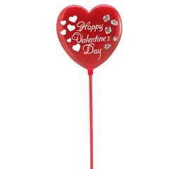 """11"""" PLASTIC HAPPY VALENTINE'S DAY PICK"""