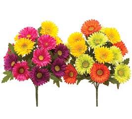 Wholesale floral silk flowers silk bouquets wreaths bright colors gerbera daish silk bush mightylinksfo