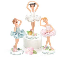 PAINTED RESIN BALLERINA FIGURINE SET