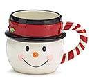 SHAPED SNOWMAN HEAD CHRISTMAS MUG