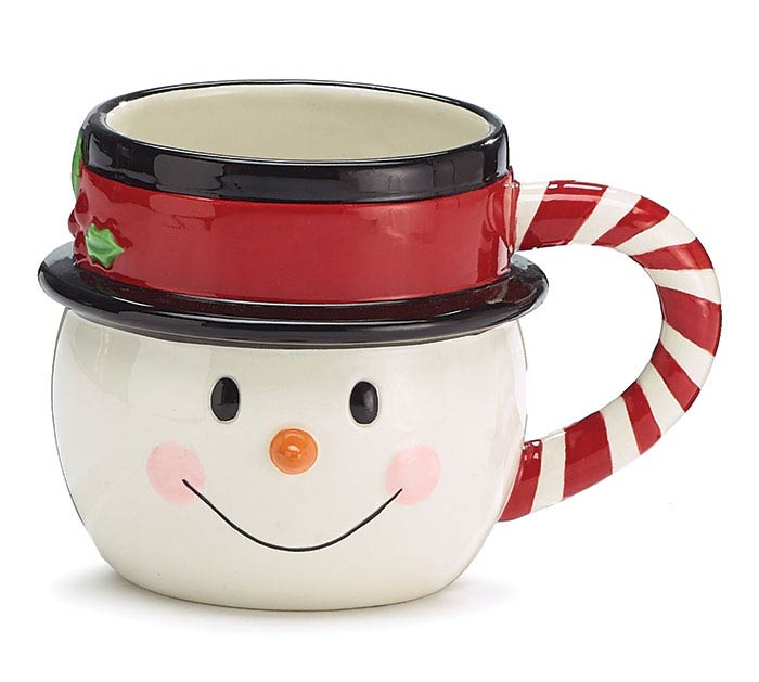 SHAPED SNOWMAN HEAD CHRISTMAS MUG