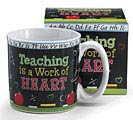 TEACHING/HEART CERAMIC MUG W/BOX