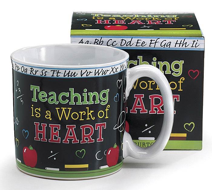TEACHING/HEART CERAMIC MUG W/BOX