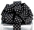 #9 BLACK POLKA DOT WIRED RIBBON