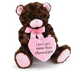 PLUSH LOVE YOU MORE THAN CHOCOLATE BEAR