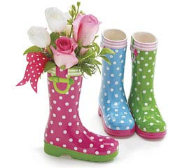 SUMMER BRIGHTS CERAMIC RAIN BOOT SET