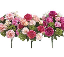 MIXED PINK SILK BUSH ASSORTED