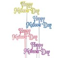 HAPPY MOTHER'S DAY PLASTIC PICK SET