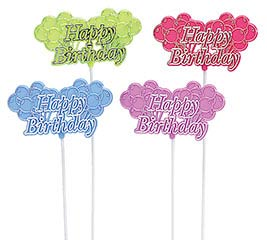 HAPPY BIRTHDAY PLASTIC PICK SET