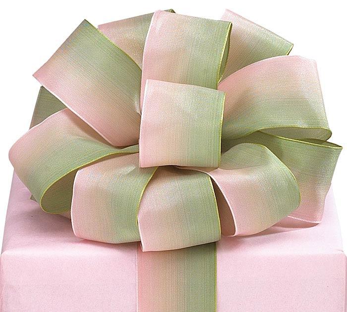 #9 PINK/GREEN SATIN WIRED RIBBON
