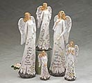 SPRING HOLY MESSAGES ANGEL FIGURINE SET