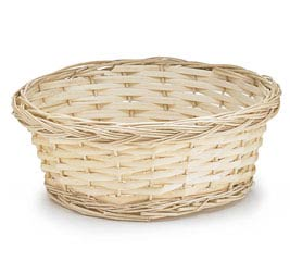 "9"" NATURAL FINISH ROUND WILLOW BASKET"