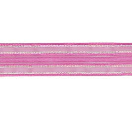 #3 SHEER PINK IRIDESCENT CORSAGE RIBBON