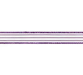 #2 SHEER PURPLE METALLIC CORSAGE RIBBON