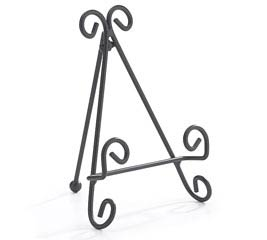 "5.75"" BLACK METAL PLATE STAND"