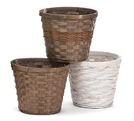 "6"" BAMBOO POT COVER SET"